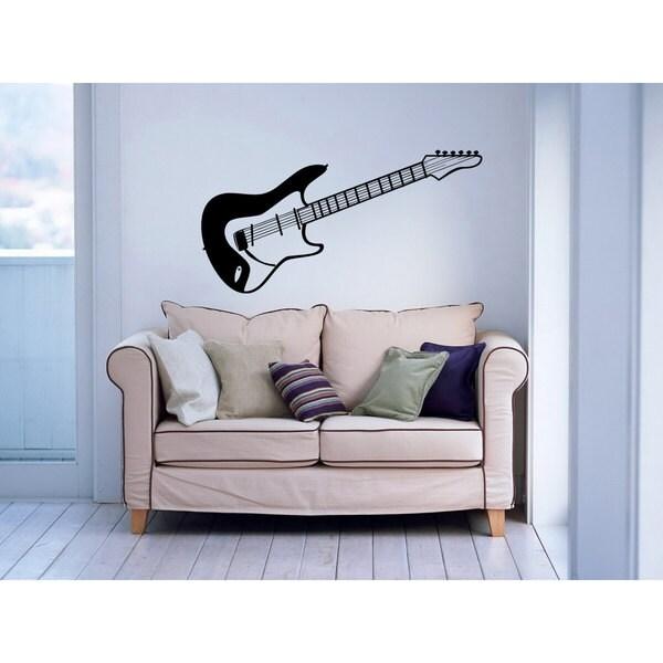 Guitar Musical Instrument Music Inspirational Sticker Vinyl Wall Art