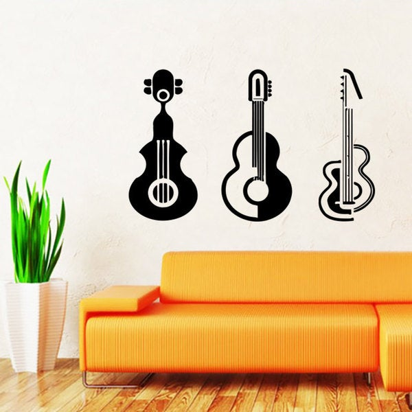 Guitars Music Notes Clef Inspirational Sticker Vinyl Wall Art