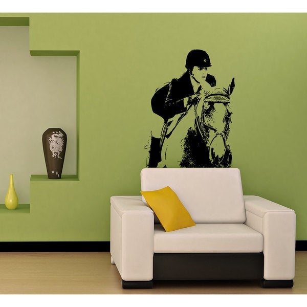Girl on the Horse, Jockey, Rider, Horse Riding Sticker Vinyl Wall Art