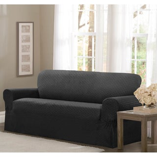 Maytex Conrad Stretch Fabric One-piece Loveseat Slipcover