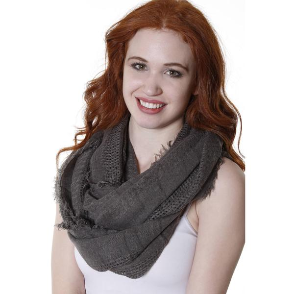Hadari Women's Everyday Fringed Knit Scarf