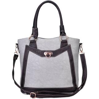 J. Furmani Two-tone Vegan Leather Tote Handbag