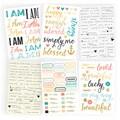 """I Am Stickers 4""""X6"""" Sheets 6/Pkg-3 Gold Foil & 3 Color"""