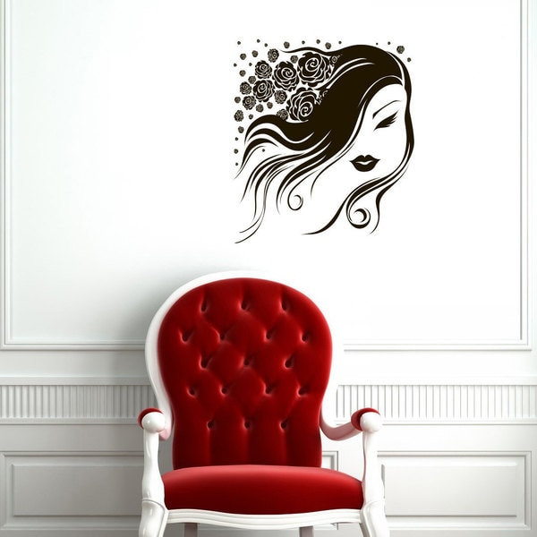 Nail Hair Salon Sticker Vinyl Wall Art