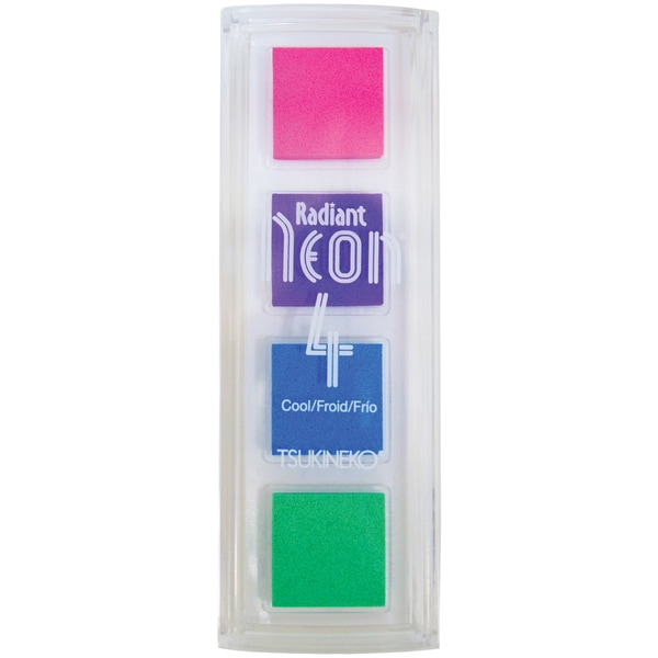 Neon Quartet -Cool-Electric Pink, Purple, Blue & Green