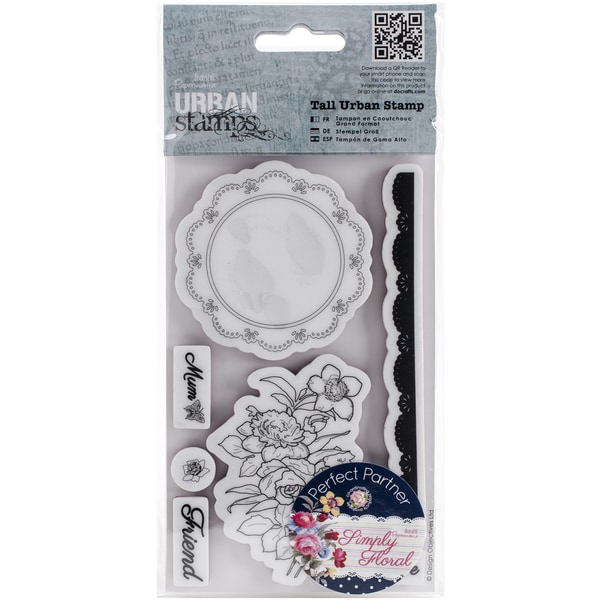 Papermania Simply Floral Tall Urban Stamps-Flower Doily