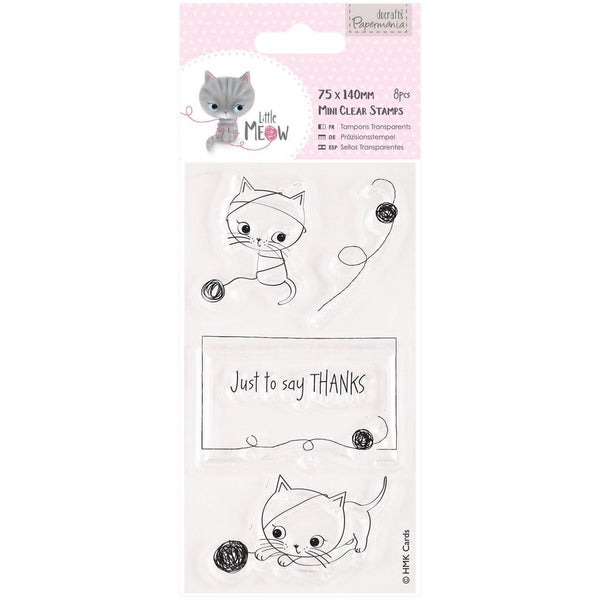 Papermania Little Meow Mini Clear Stamps 75mm X 140mm-Just To Say