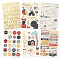 """Say Cheese II Foil Stickers 4""""X6"""" Sheets 6/Pkg-3 Gold & 3 Color"""