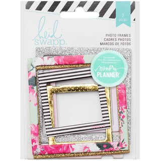"Heidi Swapp Hello Beautiful Embellishments 7/Pkg-Photo Frames 2""X2"" & 3""X3"""