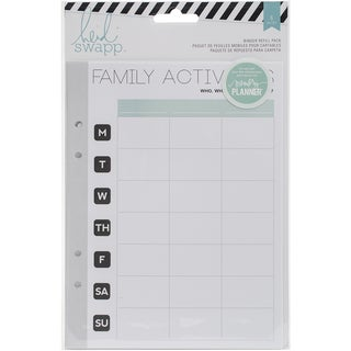 "Memory Planner Binder Refill Pack 6""X8"" 6/Pkg-Hello Beautiful Family Activities"