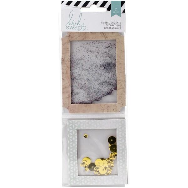 Wanderlust Shaker Boxes 2/Pkg-Glitter & Sequins