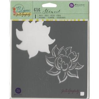 "Jamie Doughtery Bloom Stencil 6""X6""-Lotus"