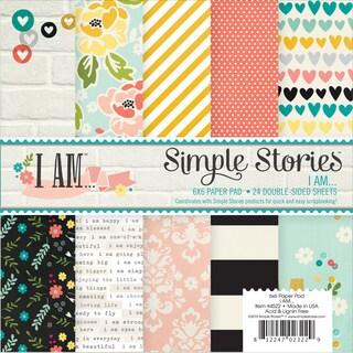 """Simple Stories Paper Pad 6""""X6"""" 24/Pkg-I Am"""