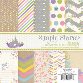 "Simple Stories Paper Pad 6""X6"" 24/Pkg-Enchanted"