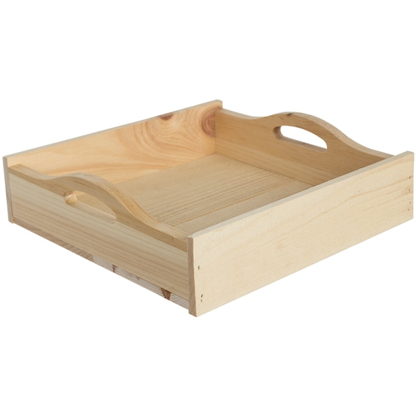 Rustic Tray Square 11inX10.67inX3.09in