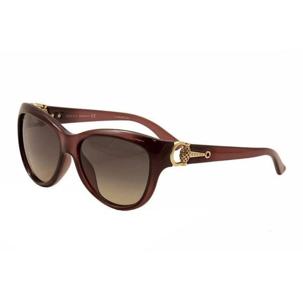 Gucci Women's 3711/S Plastic Cat Eye Sunglasses