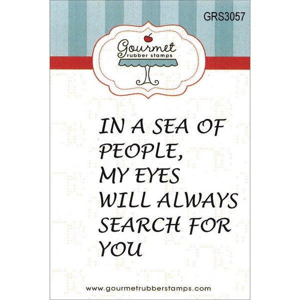 "Gourmet Rubber Stamps Cling Stamps 2.75""X4.75""-In A Sea Of People"