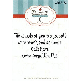 """Gourmet Rubber Stamps Cling Stamps 2.75""""X4.75""""-Cat's Were Worshiped"""
