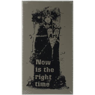"Finnabair Wood Mounted Stamps 2.5""x5"" -Now Is The Right Time"