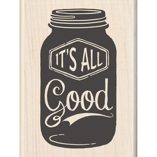 "Inkadinkado Mounted Rubber Stamp 2.25""X3""-It's All Good"