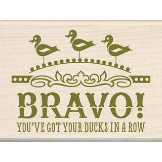 "Inkadinkado Mounted Rubber Stamp 2.25""X3""-Ducks In A Row"