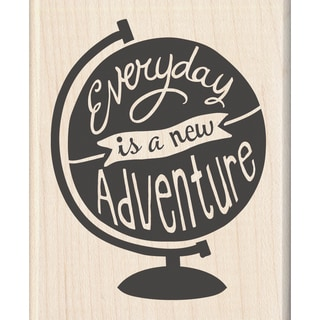 "Inkadinkado Mounted Rubber Stamp 2.25""X2.75""-A New Adventure"