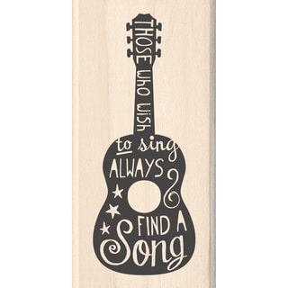 "Inkadinkado Mounted Rubber Stamp 1.75""X3.5""-Wish To Sing"