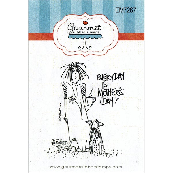 "Gourmet Rubber Stamps Cling Stamps 2.75""X4.75""-Everyday Is Mother's Day"