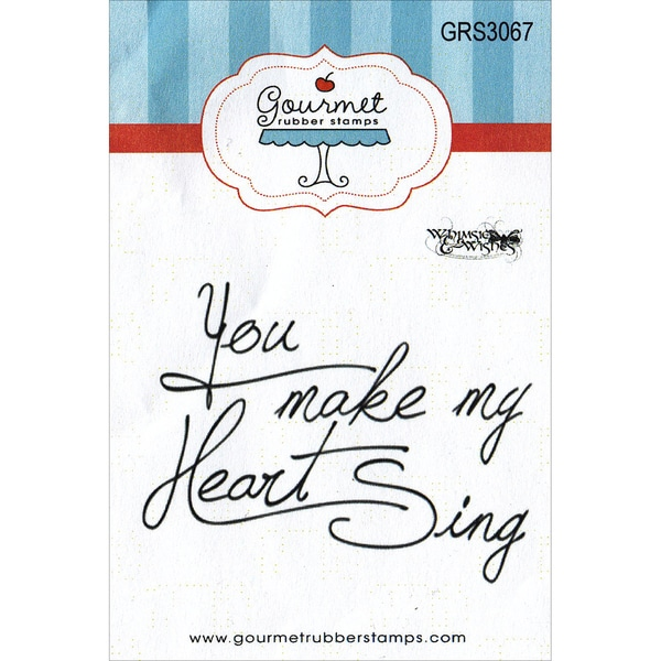 "Gourmet Rubber Stamps Cling Stamps 2.75""X4.75""-You Make My Heart Sing"