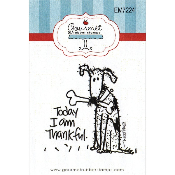 "Gourmet Rubber Stamps Cling Stamps 2.75""X4.75""-Today I Am Thankful"