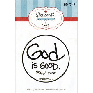 "Gourmet Rubber Stamps Cling Stamps 2.75""X4.75""-God Is Good"