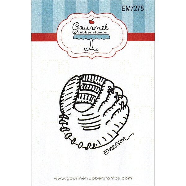 "Gourmet Rubber Stamps Cling Stamps 2.75""X4.75""-Catcher's Glove"