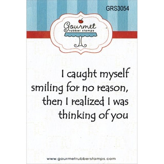 "Gourmet Rubber Stamps Cling Stamps 2.75""X4.75""-I Was Thinking Of You"