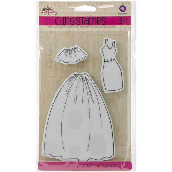 Julie Nutting Mixed Media Cling Rubber Stamps-Dress & Skirts Accessories