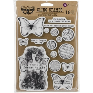 "Finnabair Cling Stamps 6""X7.5""-Don't Forget To Fly"