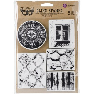 """Finnabair Cling Stamps 6""""X7.5""""-Old Town"""