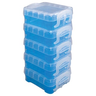 Storage Studios Super Stacker Bitty Boxes 5/Pkg-Stacked, Blue