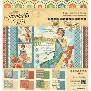 """Graphic 45 Paper Pad 8""""X8"""" 24/Pkg-Home Sweet Home"""