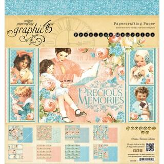 """Graphic 45 Paper Pad 8""""X8"""" 24/Pkg-Precious Memories"""
