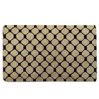 Black Check Pattern Extra thick Decorative Coir Mat (18x30)