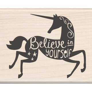 "Inkadinkado Mounted Rubber Stamp 2.25""X2.75""-Believe In Yourself"
