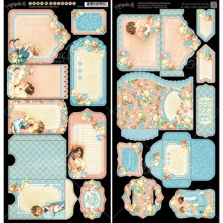 "Precious Memories Cardstock Die-Cuts 6""X12"" Sheets 2/Pkg-Tags & Pockets"