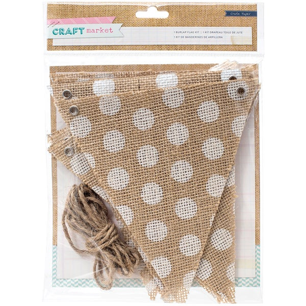 Craft Market Burlap Flag Kit