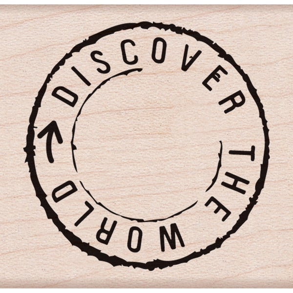 """Hero Arts Mounted Rubber Stamp 2""""x2"""" -Discover The World"""