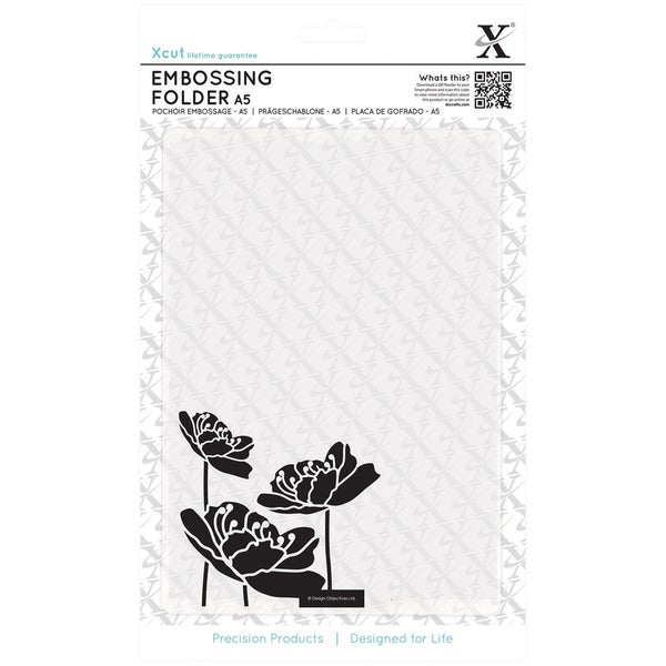 Xcut Universal A5 Embossing Folder-Large Blossom