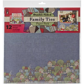 """Hot Off The Press Paper Pack 12""""X12"""" 12/Pkg-Family Ties"""