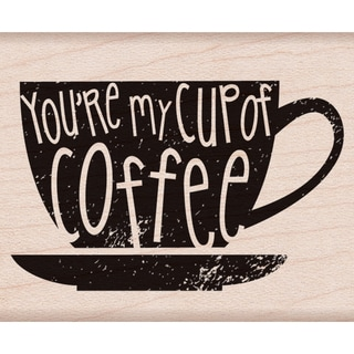 "Hero Arts Mounted Rubber Stamp 2""X2.5"" -Your My Cup Of Coffee"