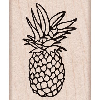 """Hero Arts Mounted Rubber Stamp 2""""X2.5"""" -Pineapple"""