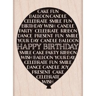 "Hero Arts Mounted Rubber Stamp 2.75""X2""-Balloon Happy Birthday"