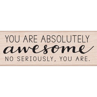 "Hero Arts Mounted Rubber Stamp 3.75""X1.25""-Absolutely Awesome"